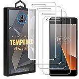 Ycloud 4 Pack Vidrio Templado Protector para Vodafone Smart V8, [9H Dureza, Anti-Scratch] Transparente Screen Protector Cristal Templado para Vodafone Smart V8