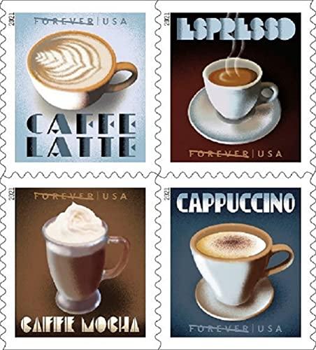 Espresso Drinks US Postage Stamps - Booklet of 20