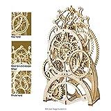 ZJJ Kit de Bricolaje, 3D Rompecabezas mecánico del Reloj de péndulo Modelo de construcción, Madera Reloj del Engranaje Construction Kit, Regalo para Mujeres y niñas