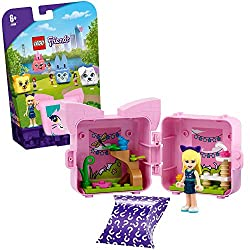 Inside of this portable travel toy, kids will find LEGO Friends Stephanie minidoll and her cat, which comes in 1 surprise colour out of 4 Includes also a bird and a buildable kitty gym, an adorable just-because gift for kids aged 6+ who love to play ...