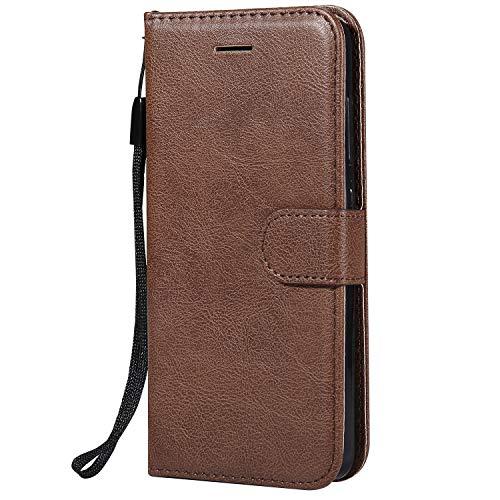 Hülle für Xiaomi Redmi 4A Hülle Handyhülle [Standfunktion] [Kartenfach] Tasche Flip Hülle Cover Etui Schutzhülle lederhülle flip case für Xiaomi Redmi 4A - DEKT051871 Braun