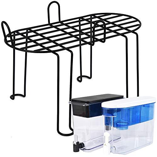 Annvchi Accesorios para Brita compatible con Brita 18 tazas, PUR DS1800Z mesa de acero inoxidable soporte alto, dispensador de agua, marco purificador de agua
