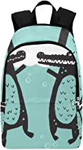 Alligator and Cactus Casual Daypack Travel Bag College School Backpack for Mens and Women