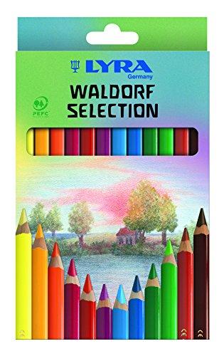 LYRA Super Ferby Waldorf Selection Kartonetui mit 12 Farbstiften, Ergonomisch dreiflächige Form, Sortiert, Rot, 12 Farbstifte Waldorf Selection, 3721123