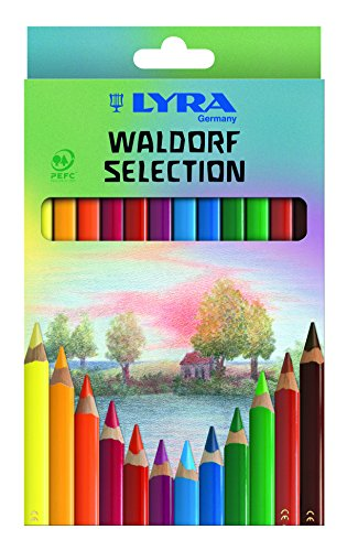 LYRA Super Ferby Waldorf Selection Kartonetui mit 12 Farbstiften, Ergonomisch dreiflächige Form, Sortiert