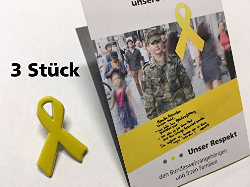 Solidarität mit unseren Soldaten & ihren Familien 3X Gelbe Schleife