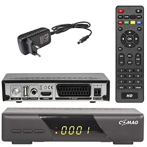 HD Satelliten Receiver Comag HD 200 (DVB-S/S2, Scart, HDMI, USB 2.0, Deutsche Kanalliste Vorinstalliert, Mediaplayer, FullHD 1080P, EasyFind, Camping Tauglich, HDTV)