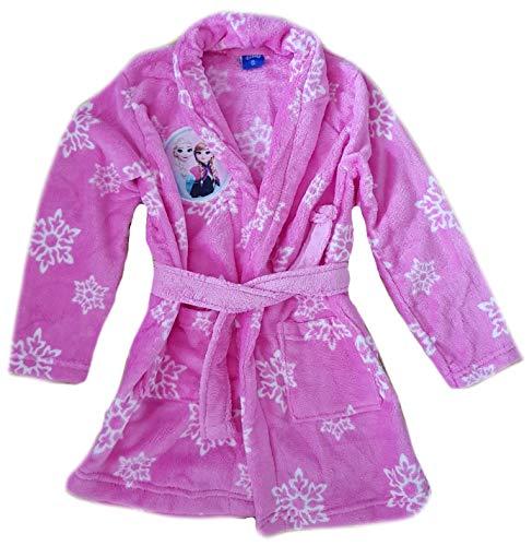 Trendstern Frozen Peignoir pour fille La Reine des Neiges Anna et Elsa - Rose - 4 ans