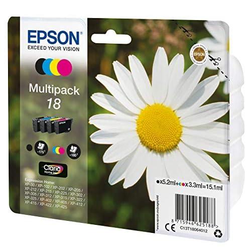 Epson C13T18064022 Inchiostro, Multicolore, 4 Pezzi