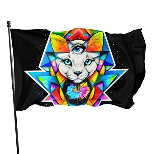 Tercer Ojo Catbright Farbe Dekorative BannerAl Aire Libre Interior Decoración para el hogar Banner