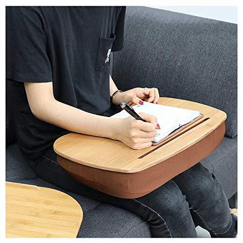 Soporte para Laptop con Cojines Suaves Y Deflector Antideslizante, Escritorio De Regazo para Portátil para Almohada De Coche/Escritorio De Estudio/Cama/Sofá