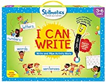 Skillmatics Educational Game : I Can Write   Reusable Activity Mats with 2 Dry Erase Markers   Gifts & Preschool Learning for Ages 3-6
