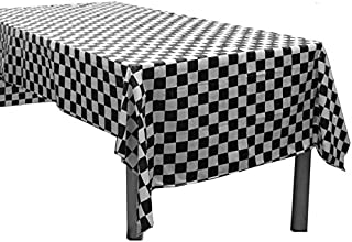 Mountclear 6-Pack Premium Gingham Checkerboard Disposable Plastic Tablecloths 54