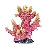 QULONG Decoraciones de jardín de Acuario Planta de Coral Artificial para Decoraciones de pecera Adorno de Arrecife de Acuario Artesanía de Resina Decoración para pecera