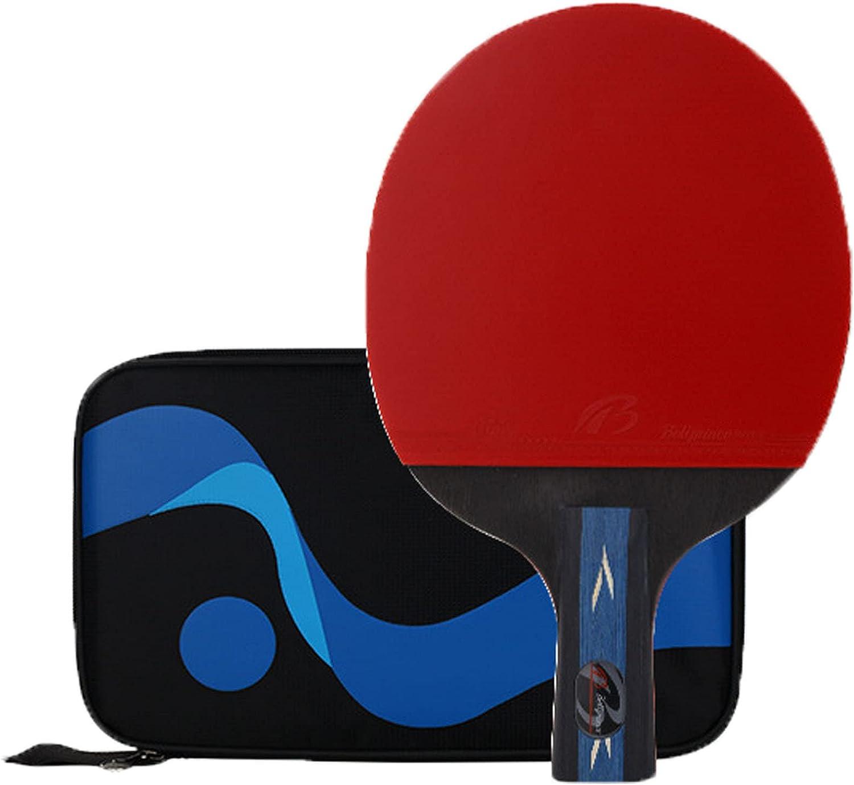 2 Piezas,Raqueta de Tenis de Mesa,Raquetas de Ping Pong Profesional,Sets de Raquetas de Tenis de Mesa,para Juegos de Alto Nivel en la Escuela, en casa, en el Club Deportivo o en la Oficina,