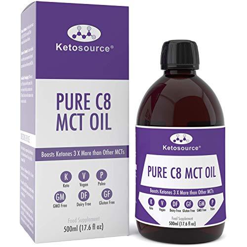 Premium C8 MCT Öl | 3X Mehr Keton-produzierende C8 als MCT-Öle | Reines Caprylsäure Triglyceride mit 99,8{591bf54e645f04d281ae529238a06e8676a00b170374ca2be73f752b1f89cf9d} | Paleo & Vegan | BPA Freie Flasche in Plastik | Ketogen und Low Carb | Ketosource®