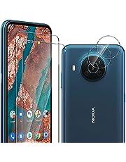 ELYCO [2+2 Pack voor Nokia X20 5G Screen Protector + Camera Lens Protector, [met Vingerafdruk Unlock] 9H Hardheid Gehard Glas Anti-Kras Screen Beschermende voor Nokia X20 5G