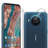 ELYCO [2 Stück Panzerglas Schutzfolie + [2 Stück] Kamera Panzerglas für Nokia X20 5G, [Anti- Kratzer] [Bläschenfrei] Bildschirmschutz Folie [9H Festigkeit] HD Klar Panzerglasfolie für Nokia X20 5G