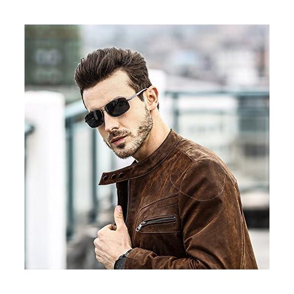 Armani sunglasses for men and women SUNGAIT Ultra Lightweight Rectangular Polarized Sunglasses UV400 Protection