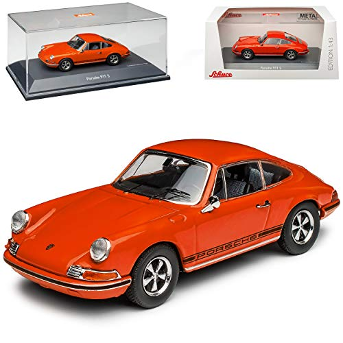 Porsche 911 S Urmodell Coupe Orange Rot 1963-1973 1/43 Schuco Modell Auto