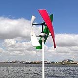Free Energy 600 w generatore eolico verticale 3 lame 12 v 24 48 v 300 giri/min con MPPT regolatore mulino a vento (multi colore, 24 V/600 W)