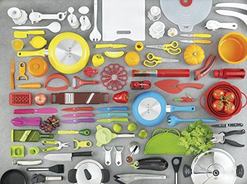 KUHN RIKON 25301 Krinkle Knife, Stainless Steel, Green, 15 x 11.1 x 1.9 cm
