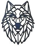 Cabeza de Lobo Wall Art geométrica de madera personalizada para colgar en pared salon dormitorio, cartel, panel, decoración. Arte. Animales Origami