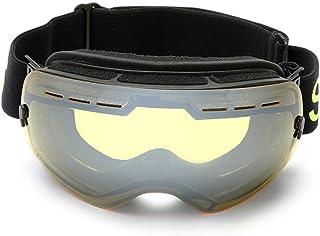 2808abbccd TFGY Gafas de esquí, máscara de Snowboard anti-UV400 para Hombres y Mujeres  sin