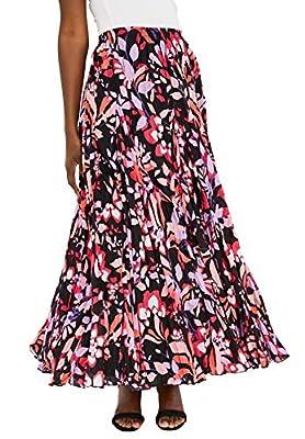 Jessica London Women's Plus Size Cotton Crinkled Maxi Skirt