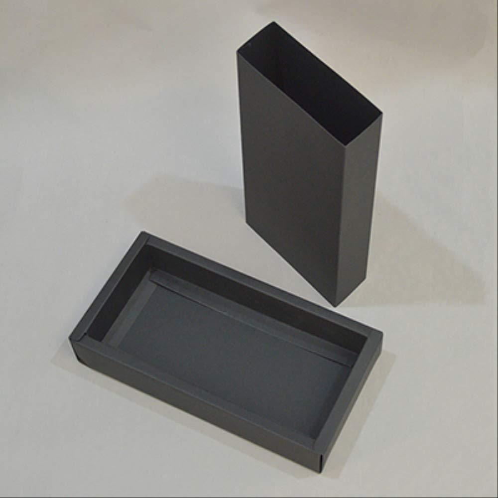 FHFF Bolsa de papel Kraft 20Pcs Craft Paquete Grande Caja Embalaje Kraft Envío Caja De Papel Regalo Blanco Caja Negra Cartón Interior 21X10X4Cm Color Negro: Amazon.es: Oficina y papelería