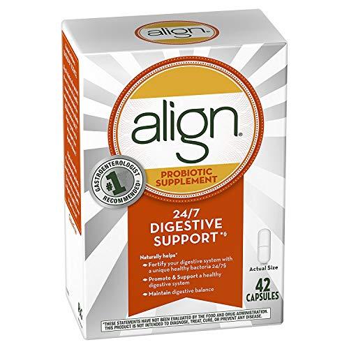 Align Digestive Care Probiotic Supplement - 42 Caplets, Pack of 6