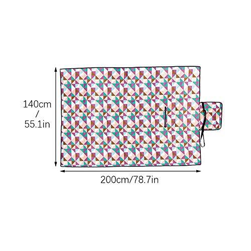KEISL Grande Couverture de Pique-Nique avec Dos imperméable et Anti-Sable, Violet, 140 * 200CM