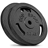Hop-Sport Cast Iron Dumbbell Weight Disc Plates 2x20 kg Adjustable Barbell Set