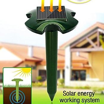 GAYBJ Extérieur à ultrasons d'énergie Solaire Anti Rongeur Serpent Mole Repeller Souris Répulsif électronique Animaux étanche Pest Control