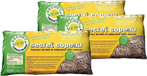 Secret Vert Paillis copeaux Marrons 11 kg Lot de 3