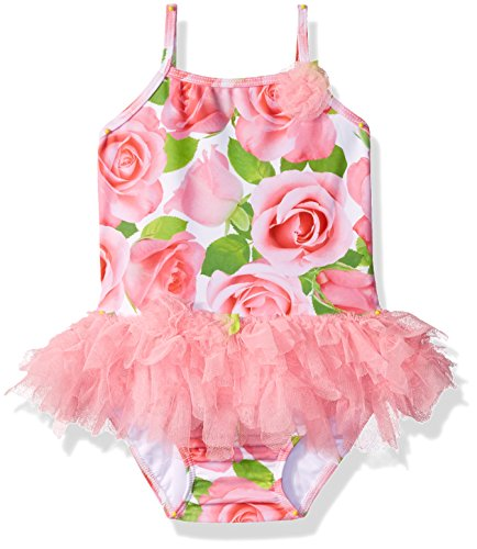 Kate Mack Girls' Baby Rose Parfait Tutu Swimsuit, Pink, 12M