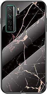 """MOONCASE ケース 用 Huawei Nova 7 SE, 超薄型 柔らかい TPU 耐衝撃性 引っかき傷に強い 指紋防止 カラフルなパターンとガラス ケース 用の Huawei Nova 7 SE 6.5"""" (ゴールドシルク)"""