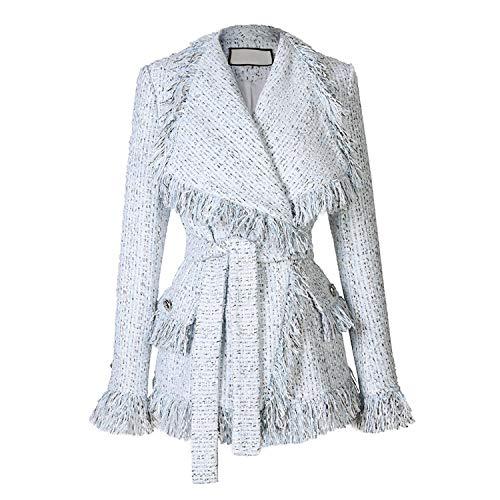 Lente/herfst vrijetijdsjas mantel hand kwast losse mantel tweed jas jas Big Revers dikke jas