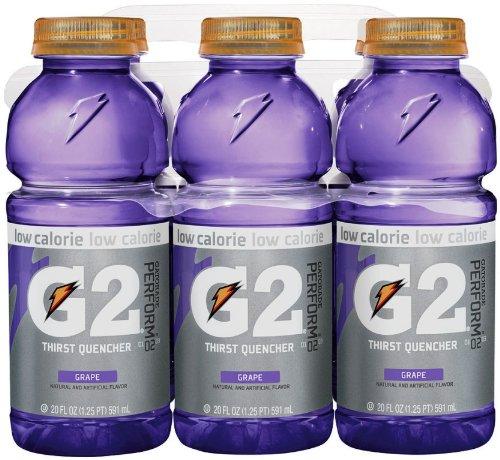 Gatorade G2 Sports Drink, Grape, Low Calorie, 20-Ounce Bottles (Pack of 12)