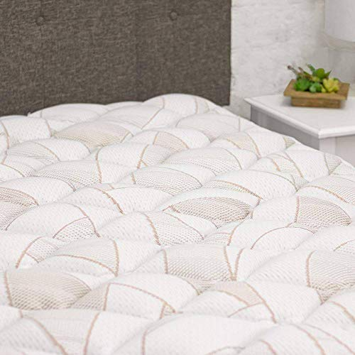 eLuxurySupply Copper Infused Mattress Pad with...