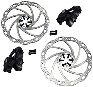 TEKTRO LYRA MD-C500 Cyclocross CX Road Mechancial Disc Brake Set Front and Rear, Black, MH1872-N