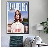 ZOEOPR Póster de Lienzo Lana del Rey Star Poster Born To Die Music Album Poster Cantante de música Pop Póster Arte de la Pared Pintura en Lienzo 50 * 70Cm Sin Marco