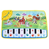 Estink Baby Musical Mat, 5 Modes Music Piano Keyboard Carpet Animal Blanket for Learn Singing Funny Kids Toy