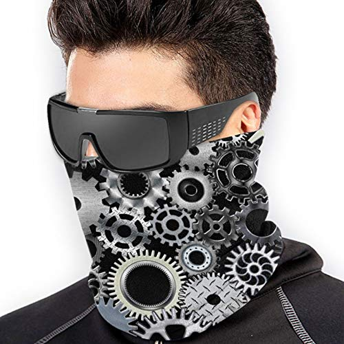 Mechanical Engineering Gear Cooling Face Mask Neck Gaiters Fishing Face Cover Scarf Sun Uv Protection Headwear Reusable Breathable Bandana Balaclava for Men&Women Sport Outdoor Black