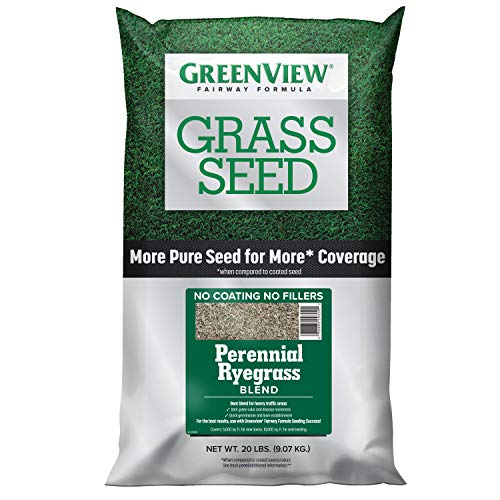 GreenView 2829355 Fairway Formula Grass Seed Perennial Ryegrass Blend, 20 lb
