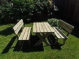Platan Room Gartenmöbel aus Kiefernholz Gartentisch Kiefer Holz massiv - 3