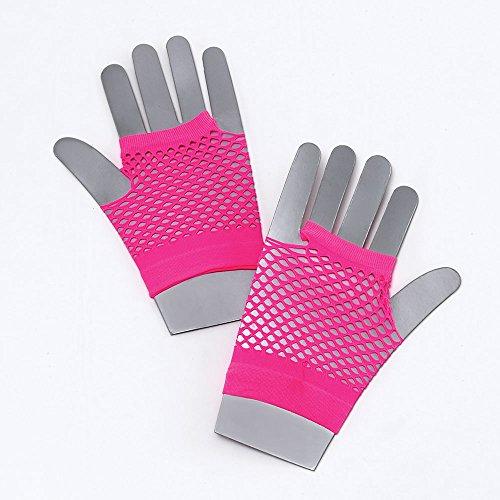 Bristol Novelty BA571 Handschuhe aus Netz, Neon-Rosa, Damen, rose, Einheitsgröße