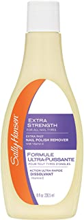 Sally Hansen Extra Strength, Fast Polish Remover with Vitamin E, 8 Fluid Ounce