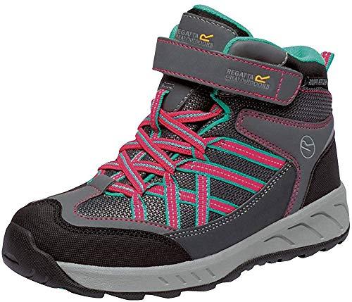 Regatta Kinder Samaris V Mid Walking Stiefel (34 EU) (Granit/Magenta)