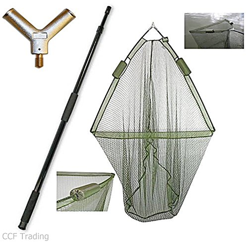 42' Carp Fishing Landing Dual Net Float System With 2m Telescopic Handle NGT